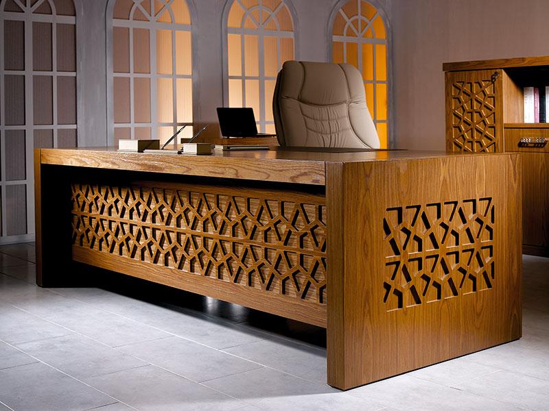 yönetici masası,ofis mobilya,büro mobilya,makam takımı kündekari, makam takımı, cilalı masa, yönetici masa takımı, yönetici çalışma masası, ceviz masa takımı